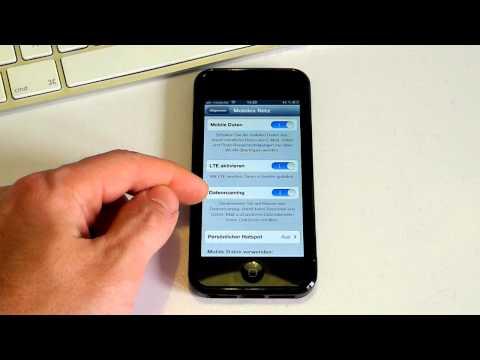 iPhone 5 - Datenroaming abschalten - Roaming ausschalten