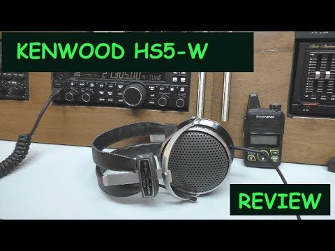 KENWOOD HS5  Communication Headphones review