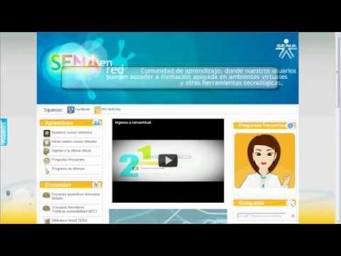 Cómo ingresar a los cursos en www.senavirtual.edu.co (Nueva plataforma)