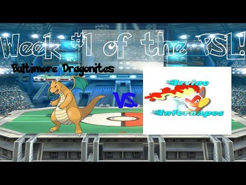 PSL Week 1- Baltimore Dragonites vs Irvine Infernapes [Post Commentary]