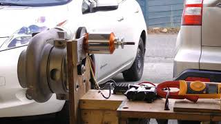 Turbocharger compressor electric drive experiments - Part 1