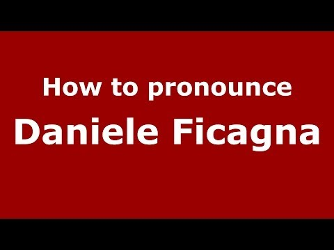 Audio and video pronunciation of Daniele Ficagna brought to you by Pronounce Names (http://www.PronounceNames.com), a website dedicated to helping people pronounce names correctly. For more...