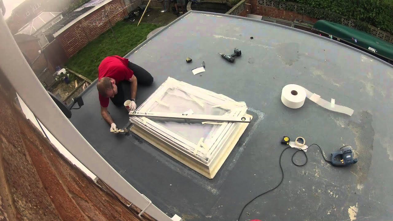 How To Fit A Velux Window In A Grp Fibreglass Flat Roof