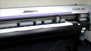 Mimaki CJV30 160 Printing and Cutting Demo