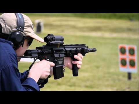 HK416C (also written HK 416C) AR SBR/PDW Fired on Full-Auto by David Crane of DefenseReview.com (DR)