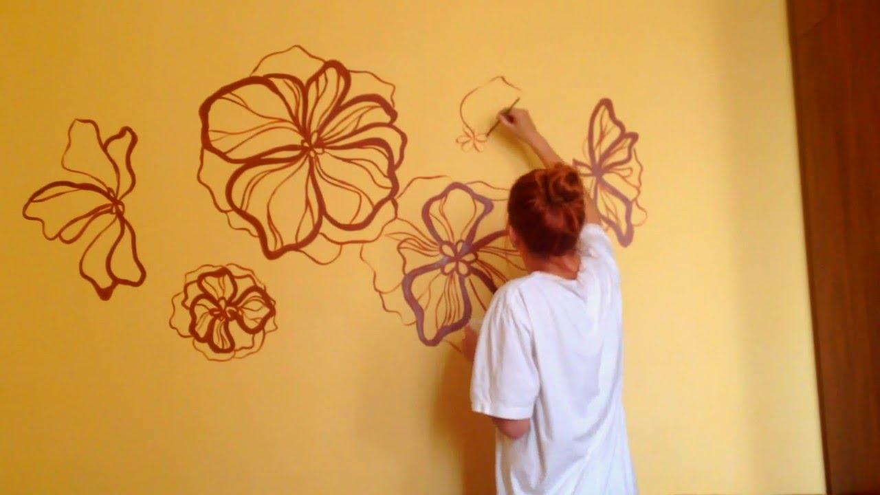 Простая роспись стен своими