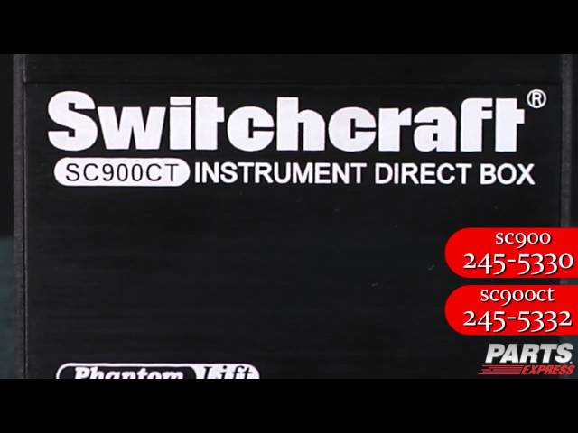 Switchcraft SC900 & SC900CT Instrument DI Box Video
