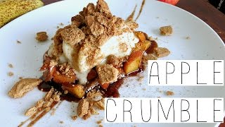 NO BAKE APPLE CRUMBLE RECIPE - EASY AND HEALTHY