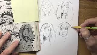 Learning to Draw Manga with Cognitive Drawing