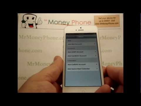 how to set up webmail on iphone 5