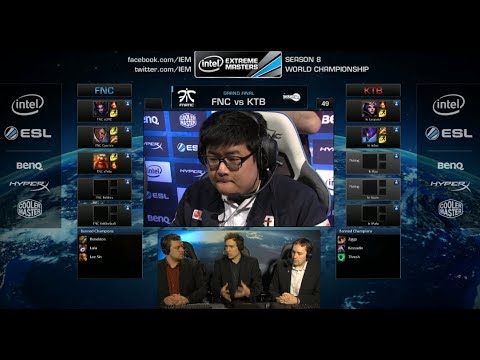 Fnatic vs KT Rolster Bullets | Game 1 Grand Finals IEM Katowice WC LOL 2014 | FNC vs KTB