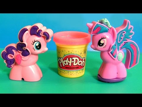 Play Doh Princess Twilight Sparkle ❤ Cutie Mark Creators NEW Pinkie Pie MyLittlePony 2015 PlayDough