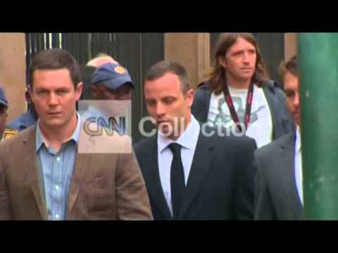 SOUTH AFRICA: OSCAR PISTORIUS ARRIVAL (WED)