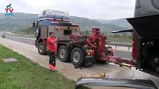 Autobusu iz Poljske  na A1 rasipale se dvije gume treći dio