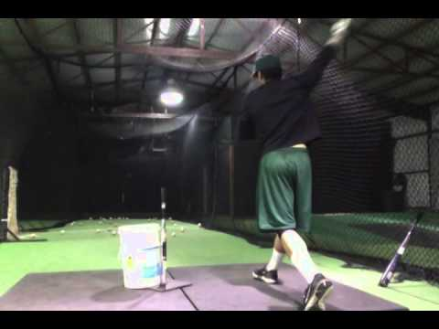 Western Oklahoma State College Prospect Luis Valdez Hitting off the Tee