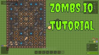 ZOMBS.io Tutorial - Zombie base building - Let's Play Zombs.io gameplay