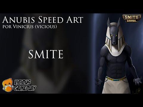 Fã Arte de Smite - Deus Anubis by Vicious =D