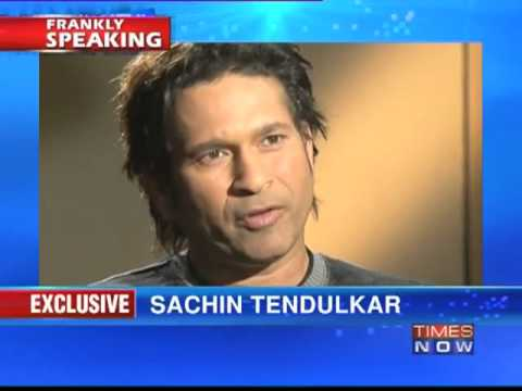 Sachin Tendulkar on Frankly Speaking with Arnab Goswami (Part 1 of 9)