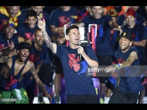 Barcelona 2015 Treble Celebration Speeches - English (Enrique, Xavi, Messi, Alves, Neymar)
