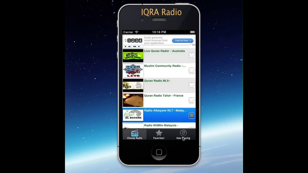 IQRA Islamic Radio App for free! - YouTube