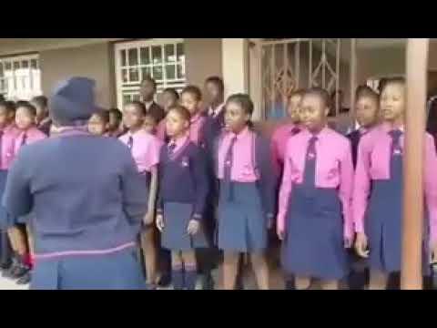 School Assembly singing Ndikhokhele Bawo