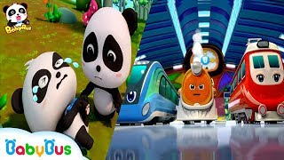 Little Panda's Leg Got Injured | Super Train Rescue Team | City Hero | BabyBus