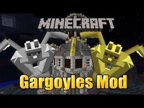 Gargoyles Mod 1.12 los mejores protectores de aldeas Minecraft mod 1.12 REVIEW EN ESPAÑOL