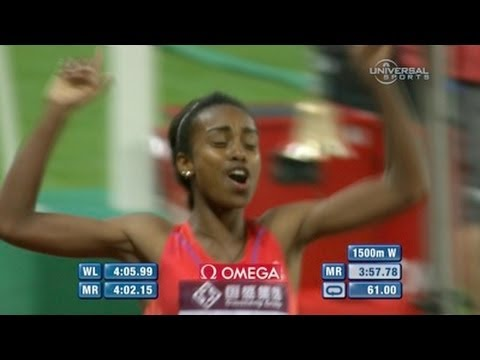 Fastest 1500m since 2012 by Genzebe Dibaba 3:57.77 - Shanghai Diamond League