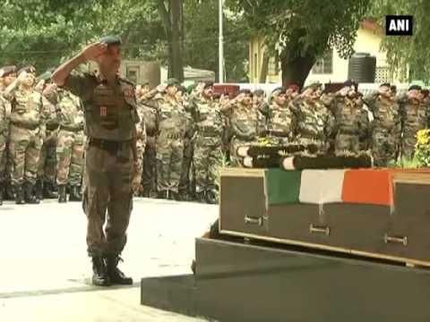 Army pays tribute to Kupwara encounter martyr - ANI News