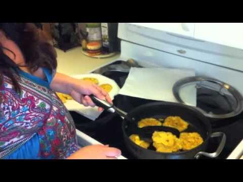 Receta: Tostones con mayonesa al ajo