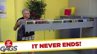 Neverending Filing Cabinet Drawer Office Prank