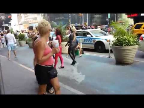 Video#1499 Times Square Nude Painted Girls video