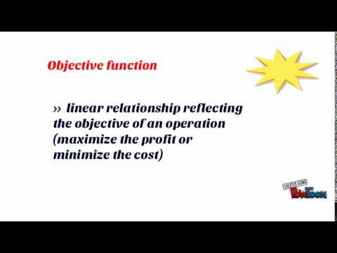 Basic concept of Linear Programming model