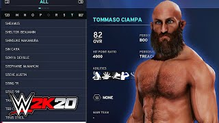 WWE 2K20 All Superstar Overalls, Stats, & Teams (100+ Characters)