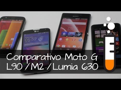 L90 x Moto G x M2 x Lumia 630 - Vídeo Comparativo Brasil