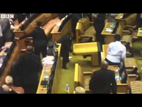 South Africa MPs forcibly ejected during Jacob Zuma speech