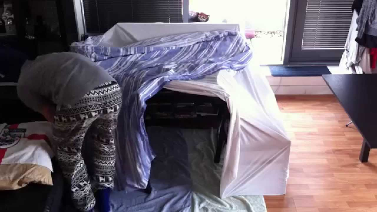 How to build a simple blanket fort youtube for How do i build a house