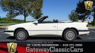 #7436 1991 Chrysler TC Maserati - Gateway Classic Cars of St. Louis
