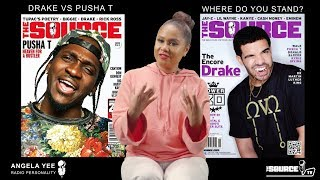 ANGELA YEE TALKS DRAKE AND PUSHA T'S BEEF