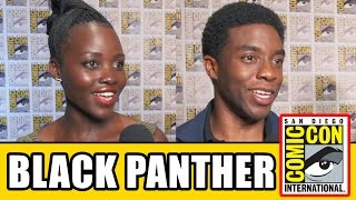 BLACK PANTHER Comic Con Interviews: Chadwick Boseman, Lupita Nyong'o, Michael B Jordan, Danai Gurira