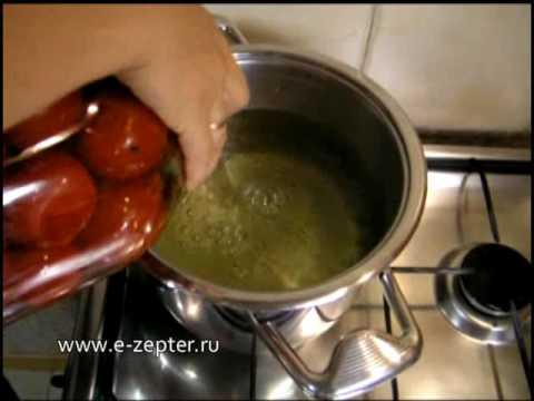 Маринованные помидоры — видео рецепт