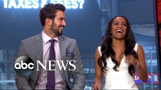 Bachelorette Rachel Lindsay, fiance Bryan Abasolo play the newlywed game