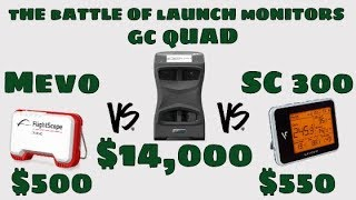 $14,000.00 vs $500.00 - SwingCaddie SC300 vs. FlightScope Mevo vs. GC Quad!