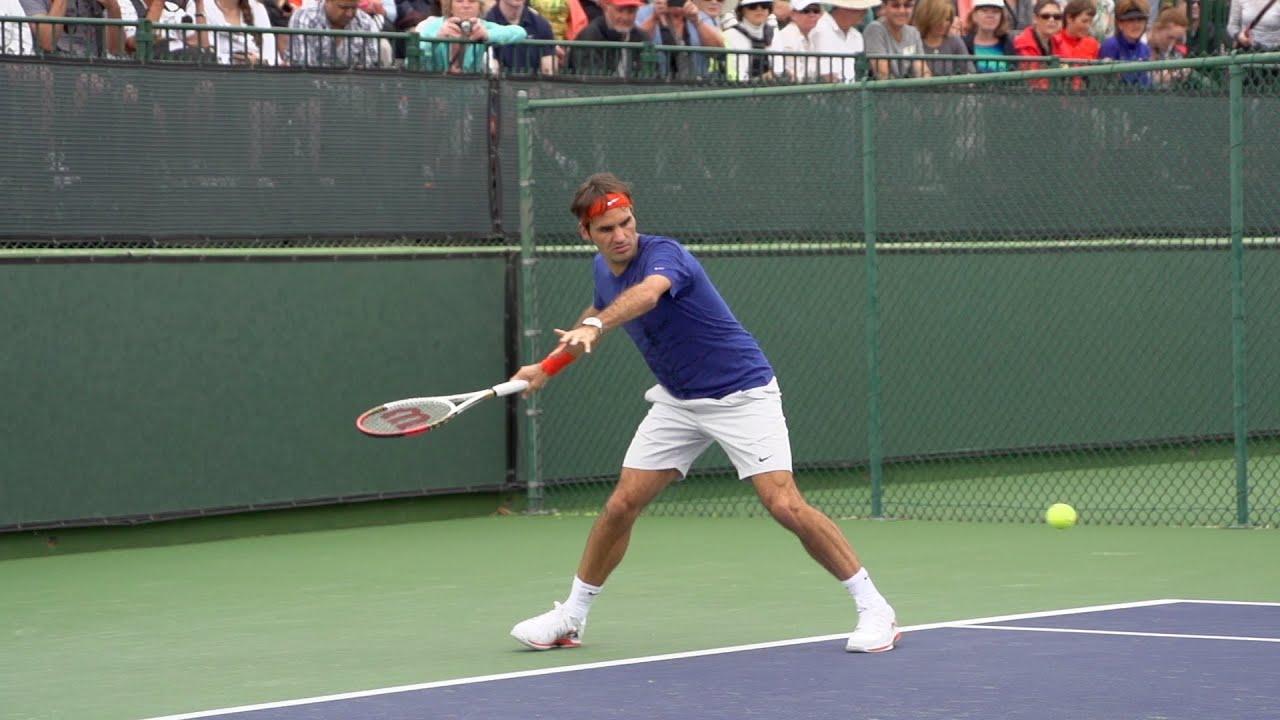 Roger Federer Forehand In Super Slow Motion 8 - Indian ...