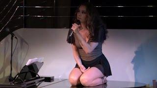 Rowan Atkinson's daughter Lily performs at The Pheasantry