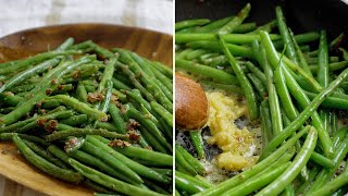 Crunchy Garlic Green Beans