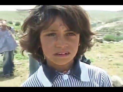 Israeli Settlers Stoning Palestine  Children walking to school