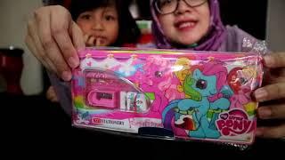 Buka hadiah Giveaway 123 English for kids // #vlog108 Keyko dapet hadiah dari Diva
