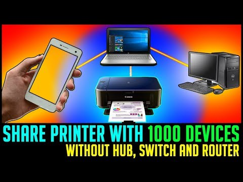 How to share printer in windows 10, 8 & 7 without hub, switch or router | Also Print from smartphone