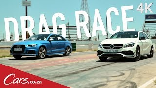 Drag Race: Audi RS3 vs Mercedes A45 AMG